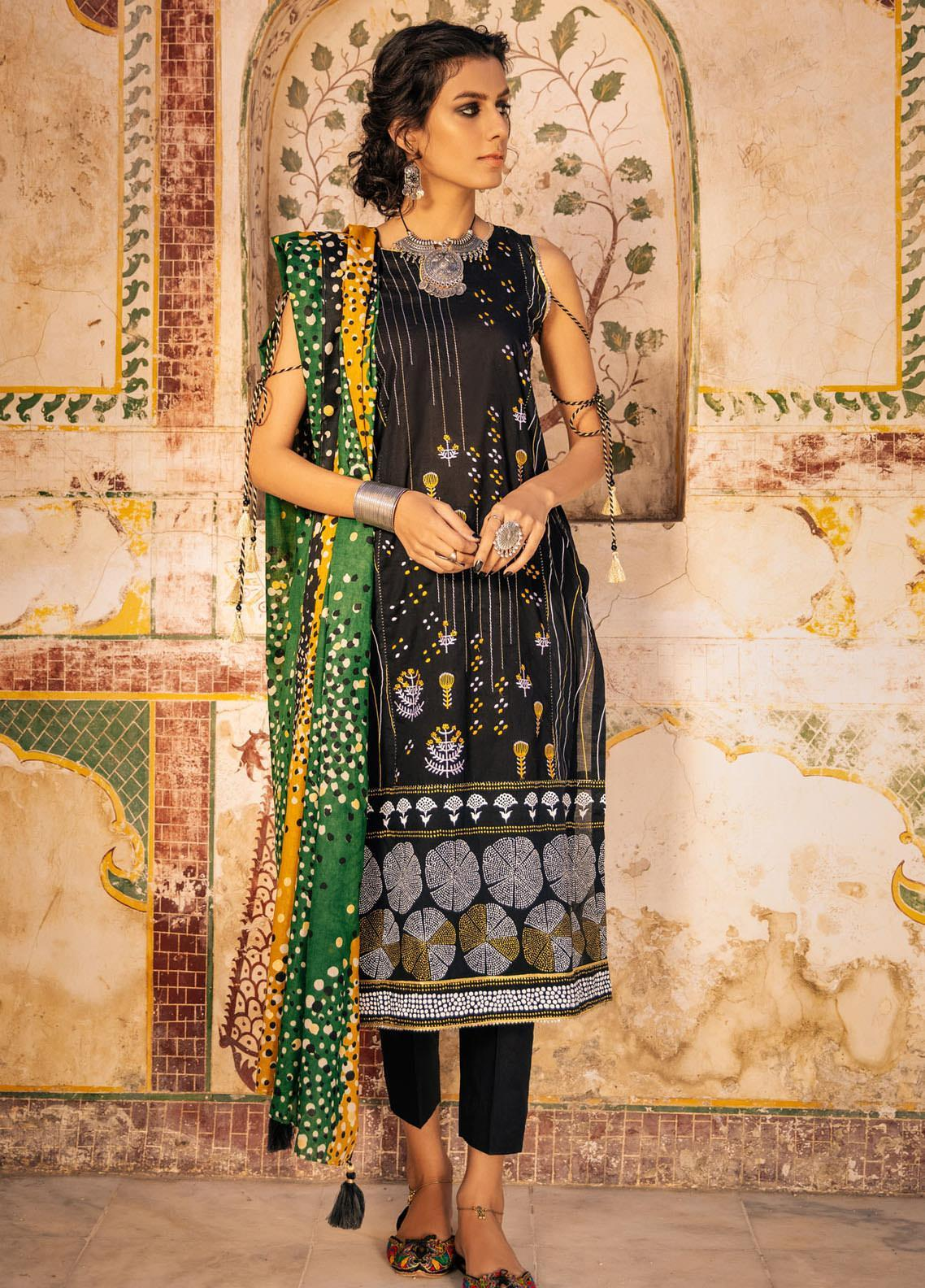 Lakhany Embroidered Lawn Suits Unstitched 3 Piece LSM21S BP-2043 - Summer Collection