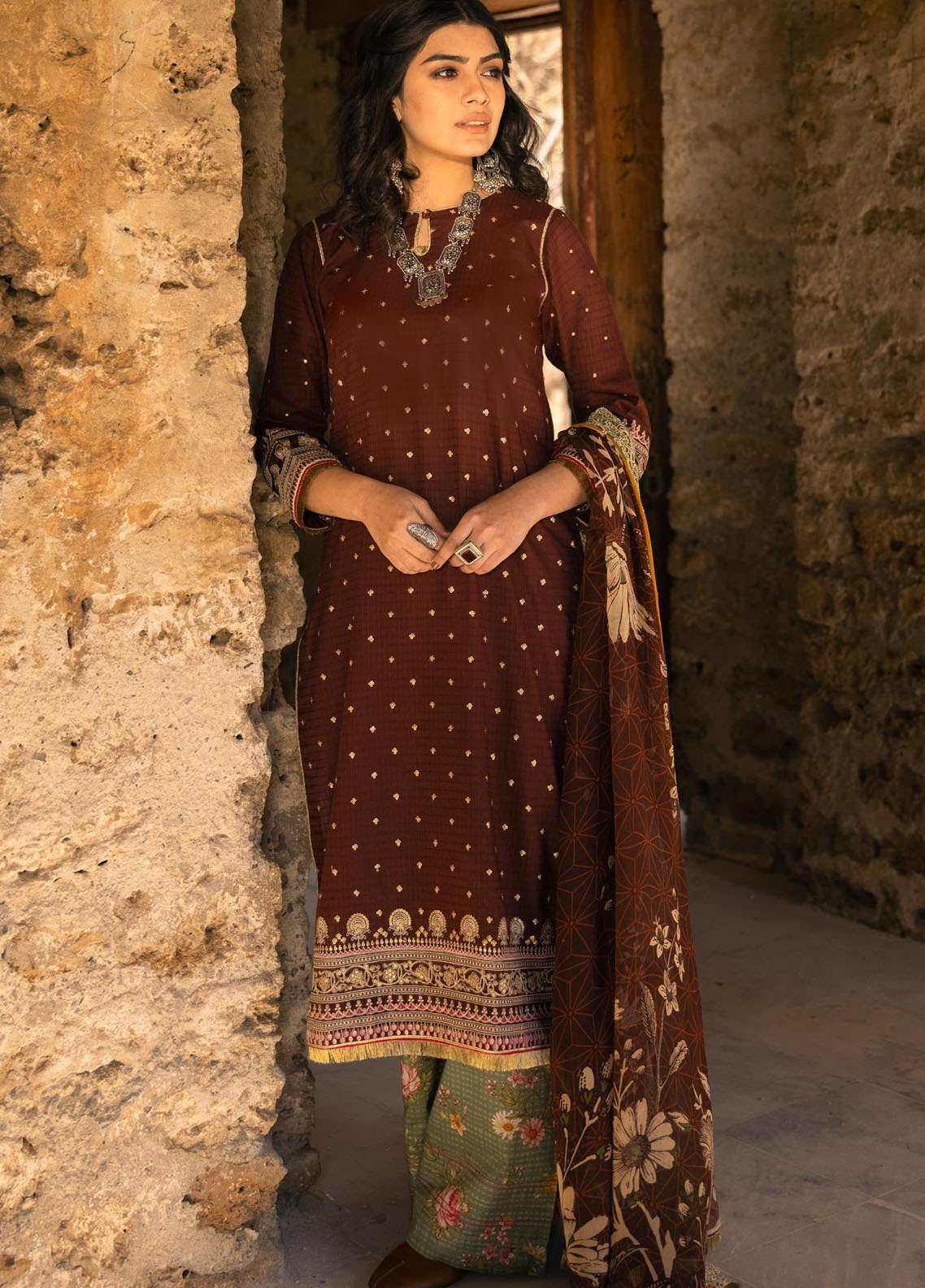 Lakhany Embroidered Jacquard Suits Unstitched 3 Piece LSM21S SG-2103 - Summer Collection