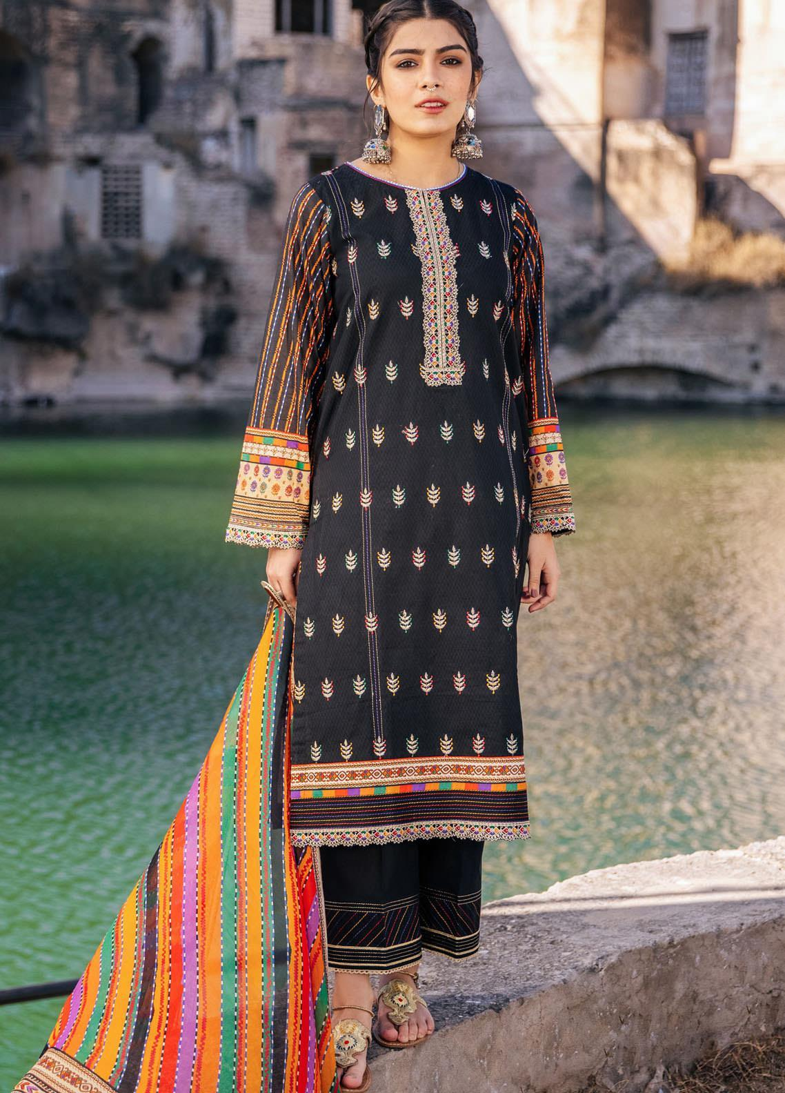 Lakhany Embroidered Lawn Suits Unstitched 3 Piece LSM21S SG-2107 - Summer Collection