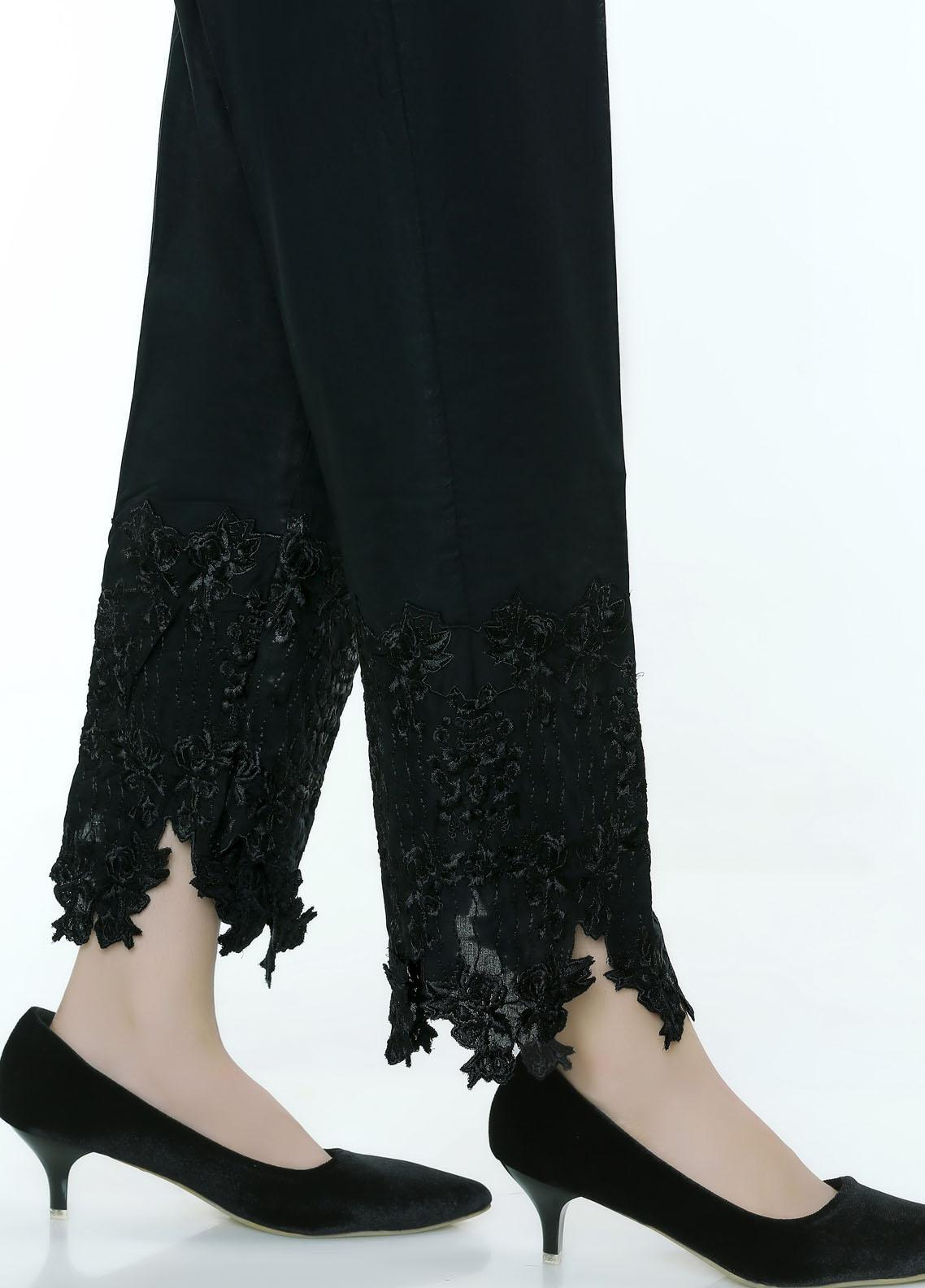 Lakhany Embroidered Cambric Stitched Trousers LSM20ET LSM-55