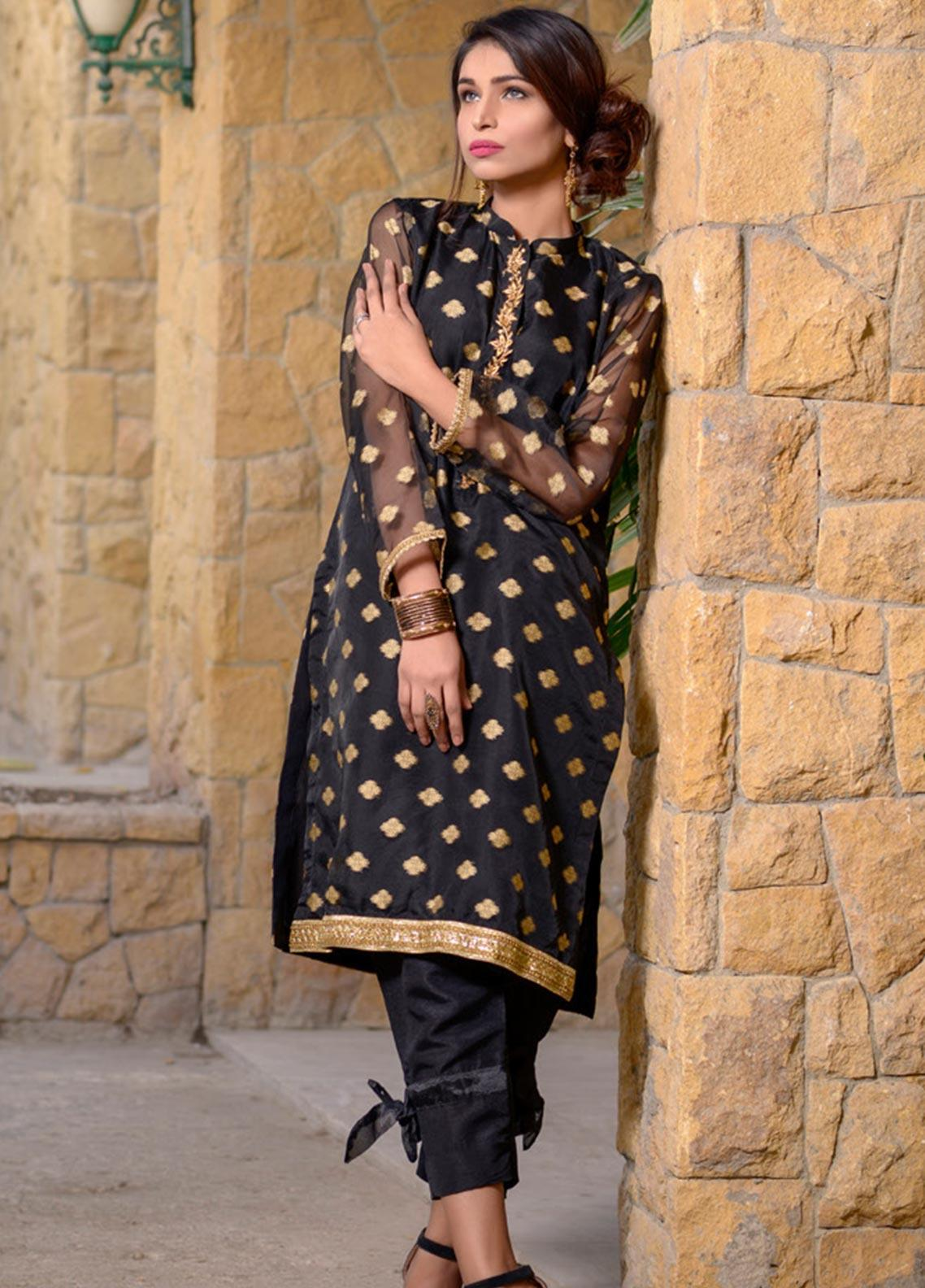 Layla Luxe by Elaheh Embroidered Organza Unstitched Kurties ELH20LY 06 - Luxury Collection