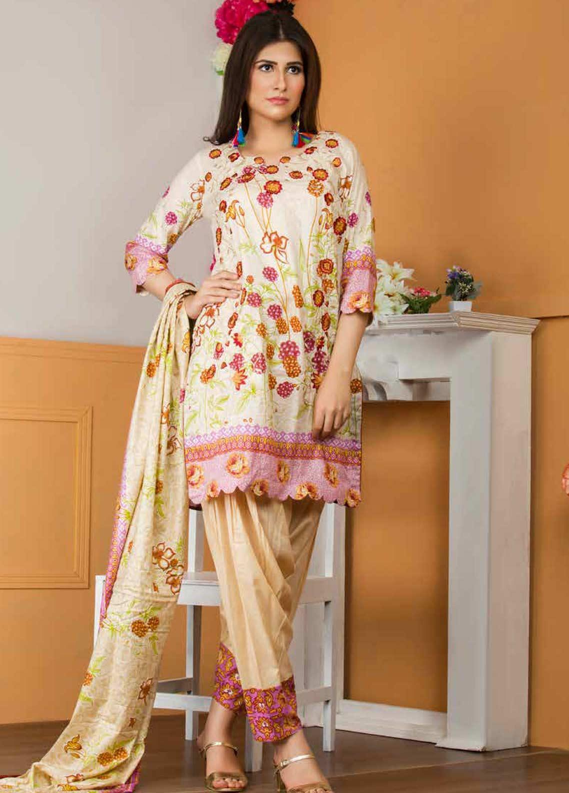 Libas by Shariq Textiles Embroidered Lawn Unstitched 3 Piece Suit LB19-L3 02A - Mid Summer Collection