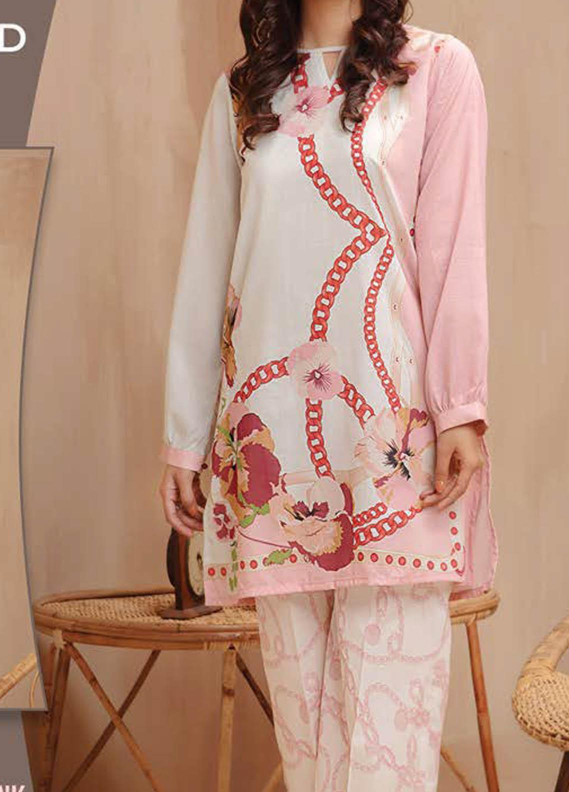 LimeLight Printed Lawn Suits Unstitched 2 Piece LL21S U-1429 PINK - Summer Collection