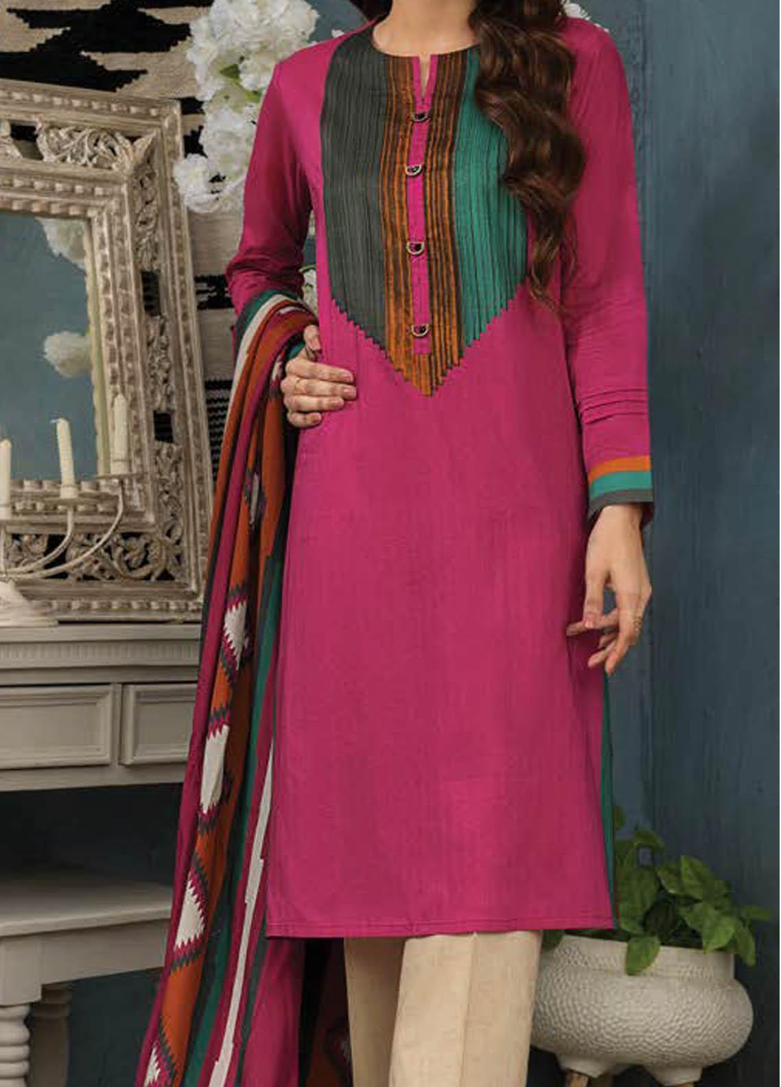 LimeLight Printed Lawn Suits Unstitched 2 Piece LL21S U-1504 PINK - Summer Collection