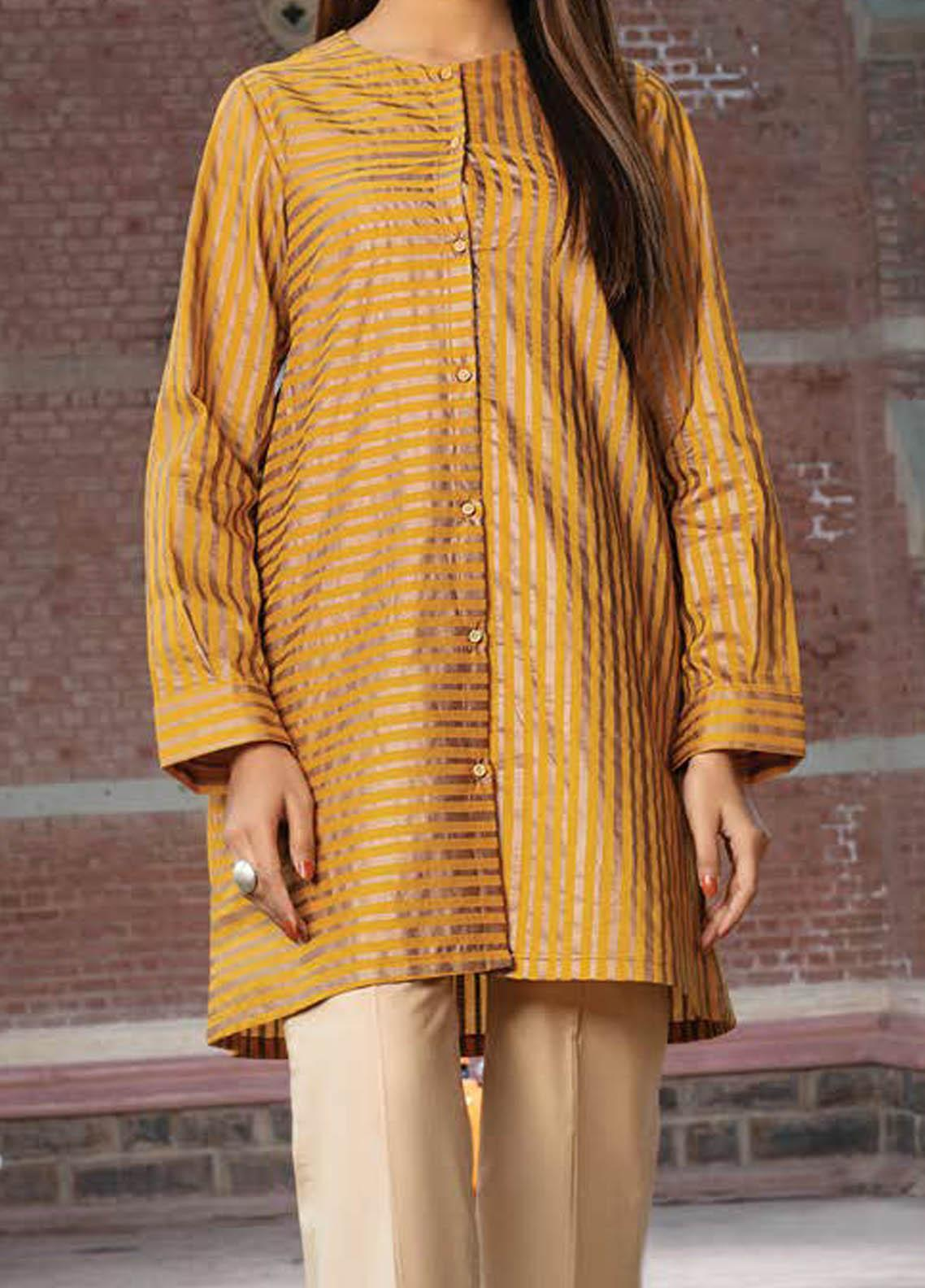 LimeLight Printed Lawn  Unstitched Kurties LL21S U-1517 YELLOW - Summer Collection