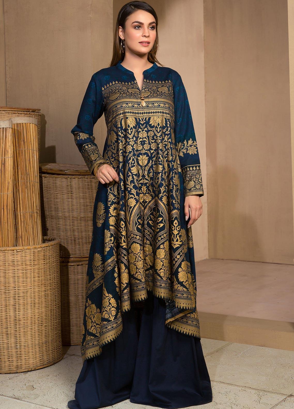 Limelight 100/% Original khaddar Straight Pantalon-Bleu-Importées du Pakistan