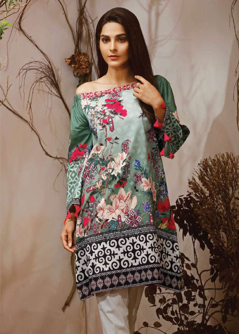 Lime Light Printed Cambric Unstitched Kurtis LL17M 102