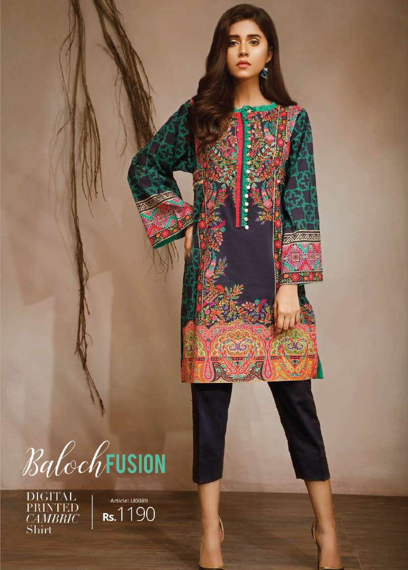 Lime Light Printed Cambric Unstitched Kurtis LL17M 89