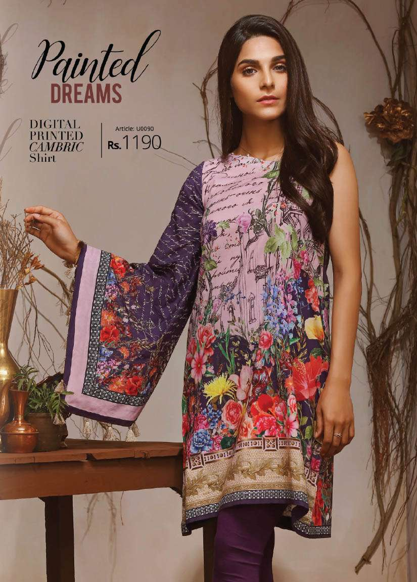 Lime Light Printed Cambric Unstitched Kurtis LL17M 90