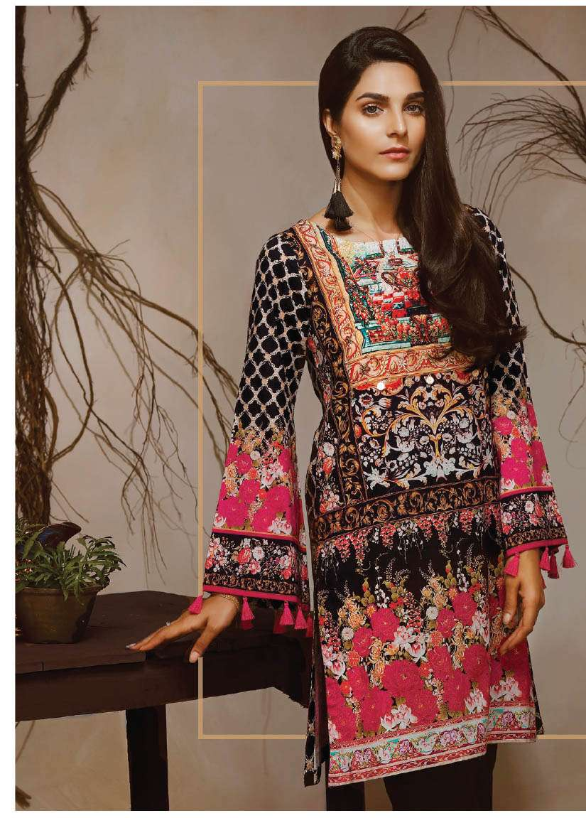 Lime Light Printed Cambric Unstitched Kurtis LL17M 94