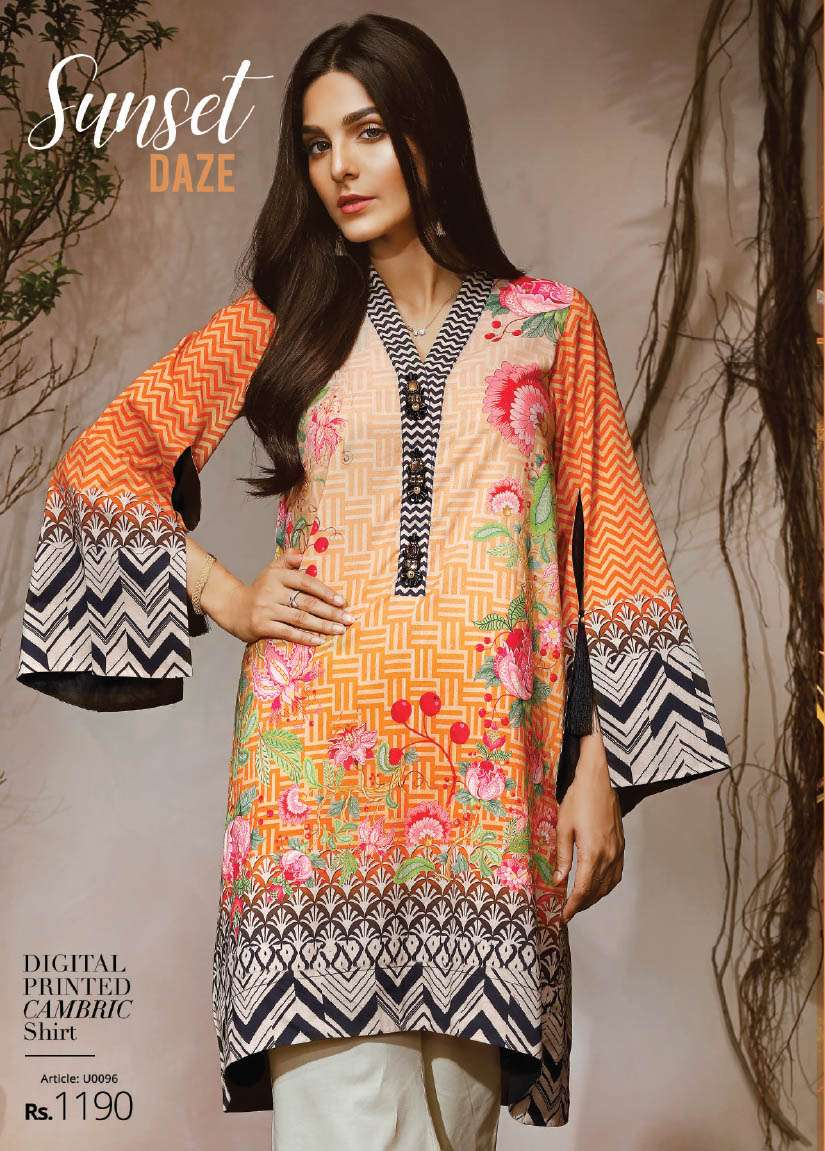 Lime Light Printed Cambric Unstitched Kurtis LL17M 96