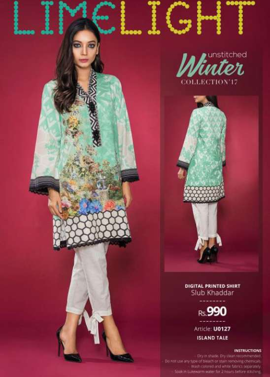 Lime Light Printed Cotton Unstitched Kurtis LL17W 127