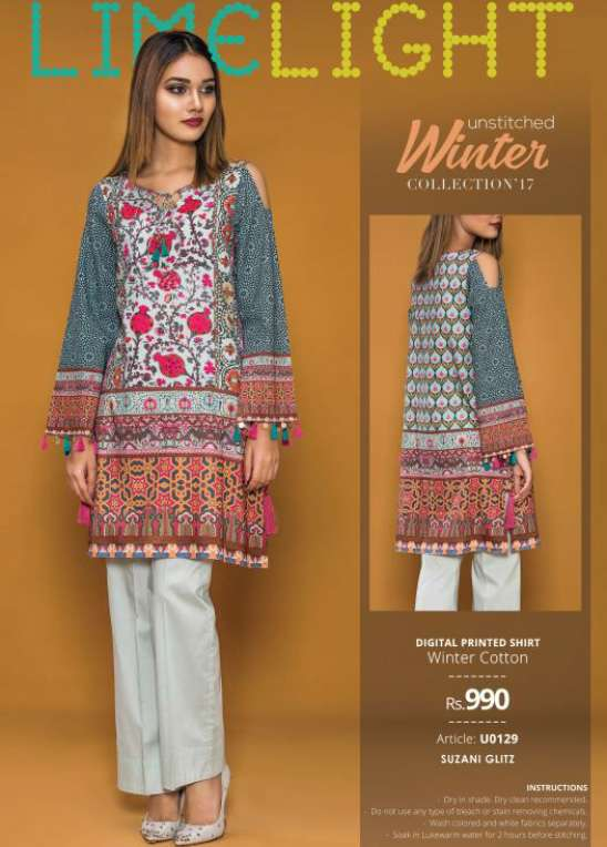 Lime Light Printed Cotton Unstitched Kurtis LL17W 129