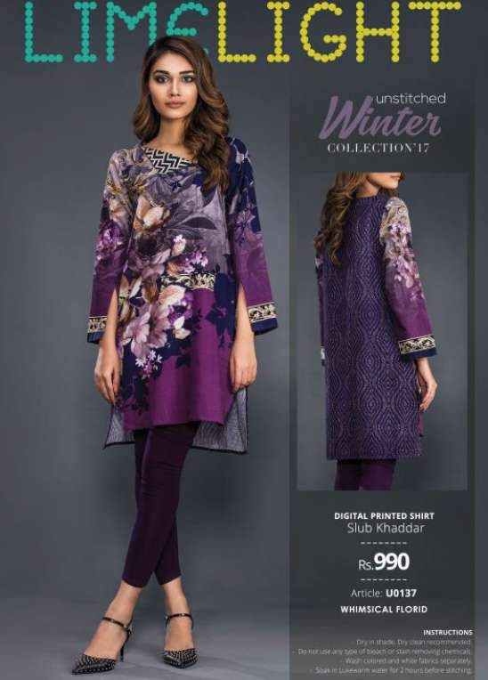 Lime Light Printed Cotton Unstitched Kurtis LL17W 137