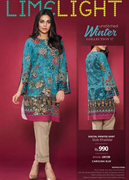 Lime Light Printed Cotton Unstitched Kurtis LL17W 139