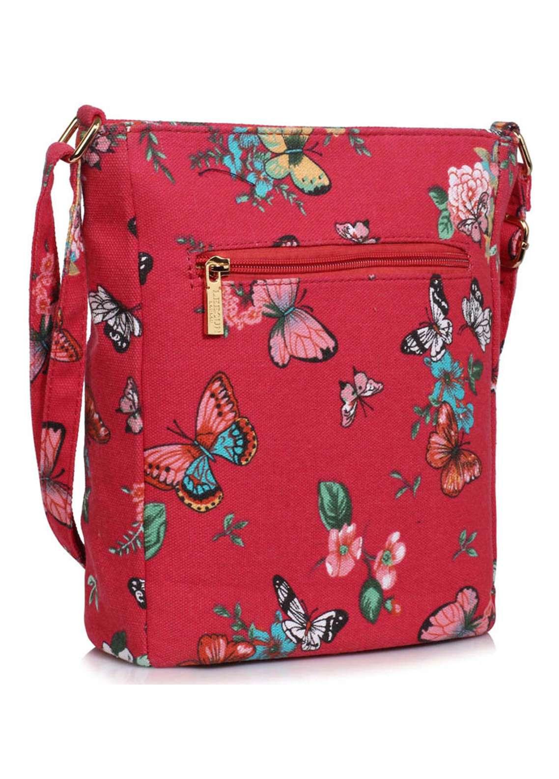 Leesun London Faux Leather Cross Body Bags for Women Red