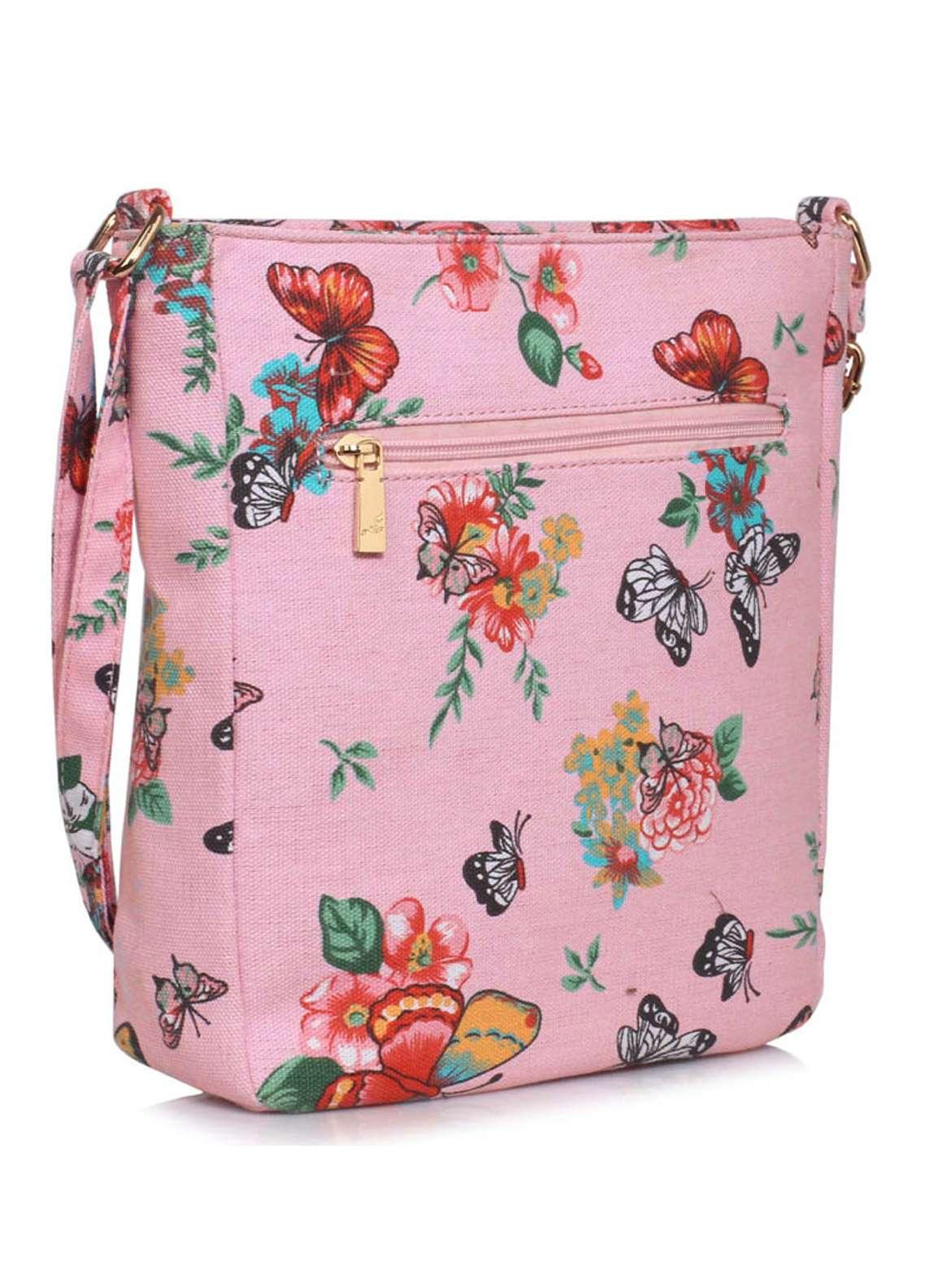 Leesun London Faux Leather Cross Body Bags for Women Pink