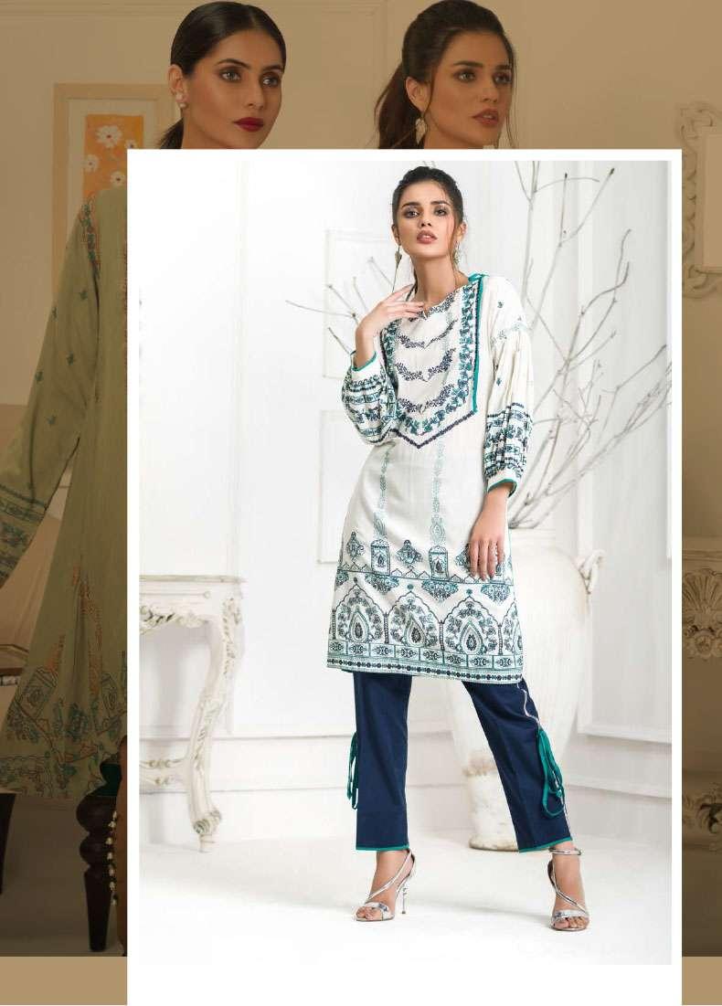 Lakhani Embroidered Pashmina Unstitched Kurtis LSM17I 116A