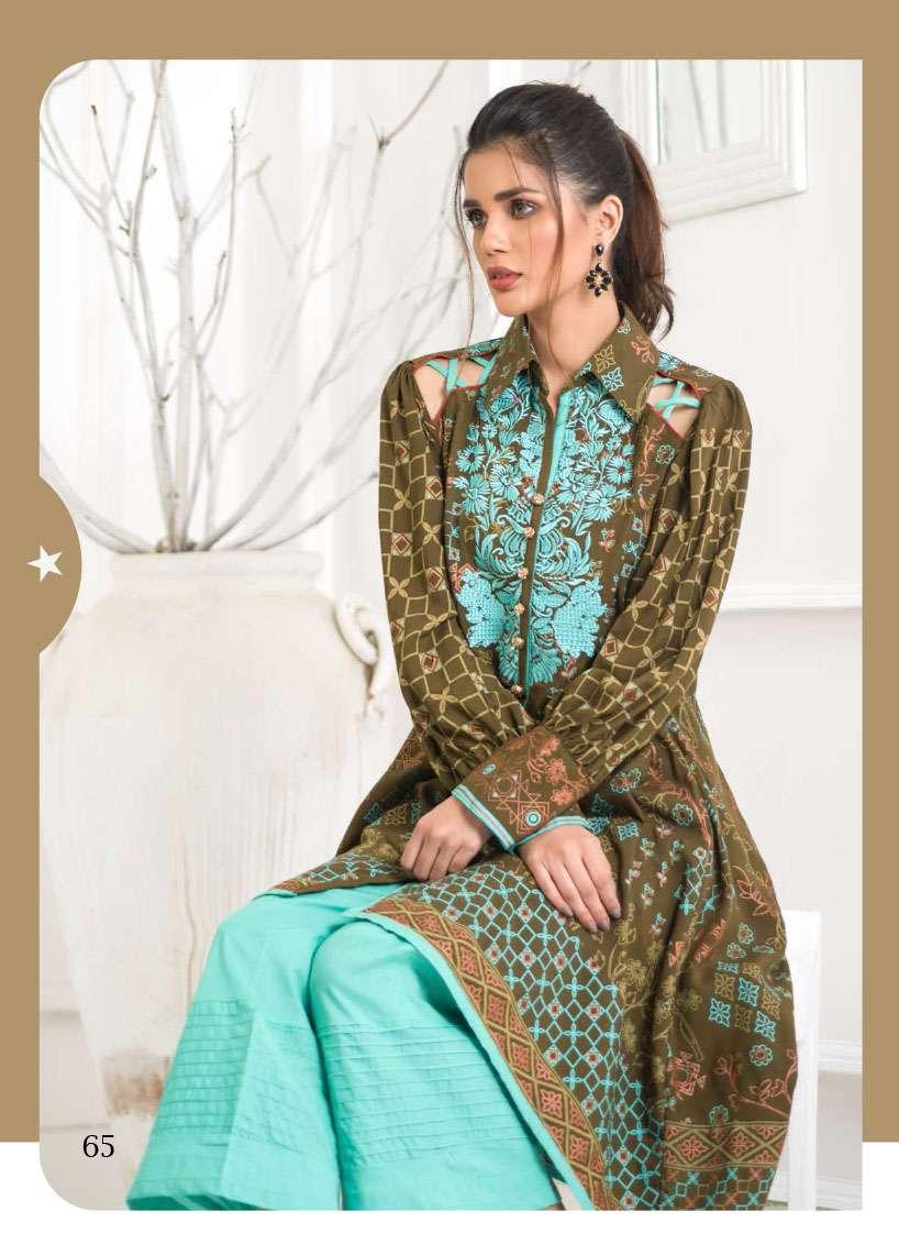 Lakhani Embroidered Pashmina Unstitched Kurtis LSM17I 118A