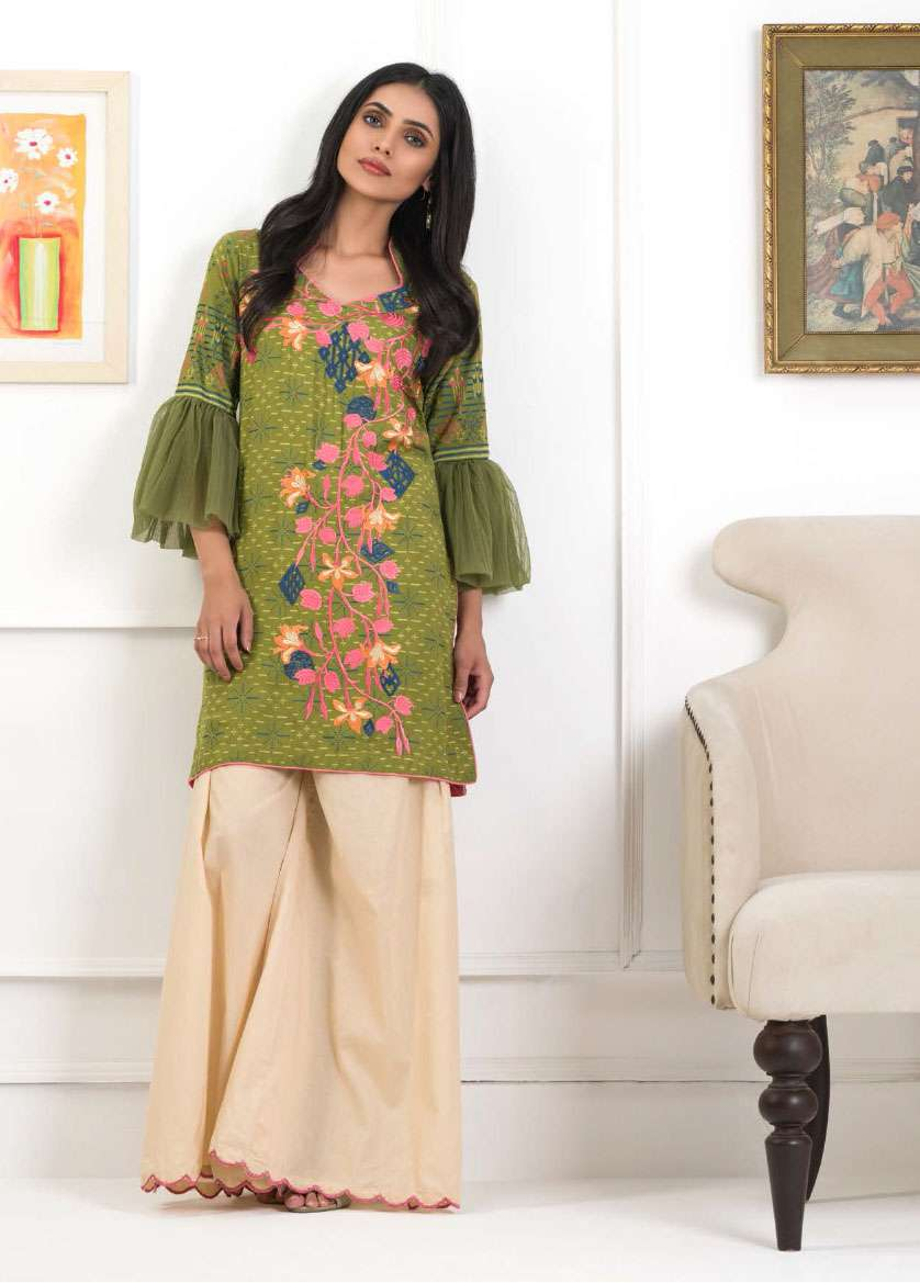 Lakhani Embroidered Pashmina Unstitched Kurtis LSM17I 119A
