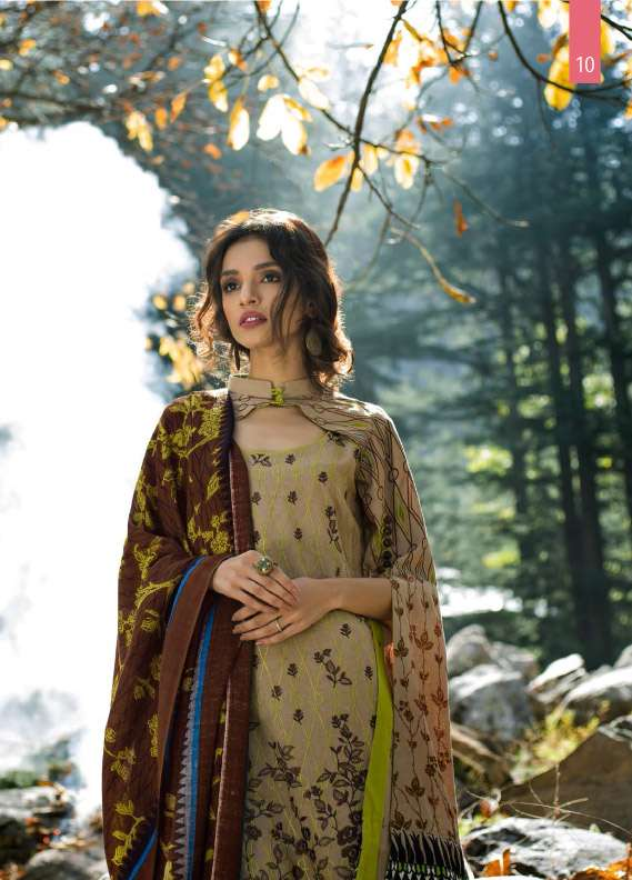 Lakhani Embroidered Linen Unstitched 3 Piece Suit LSM17W2 1A