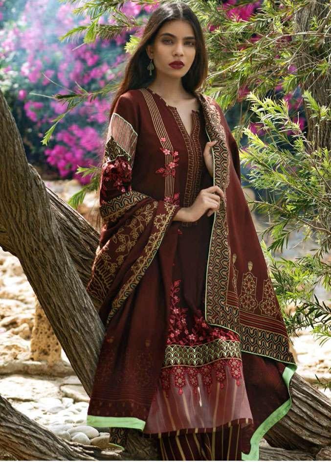 Lakhani Embroidered Cottel Linen Unstitched 3 Piece Suit LSM17W3 1000B