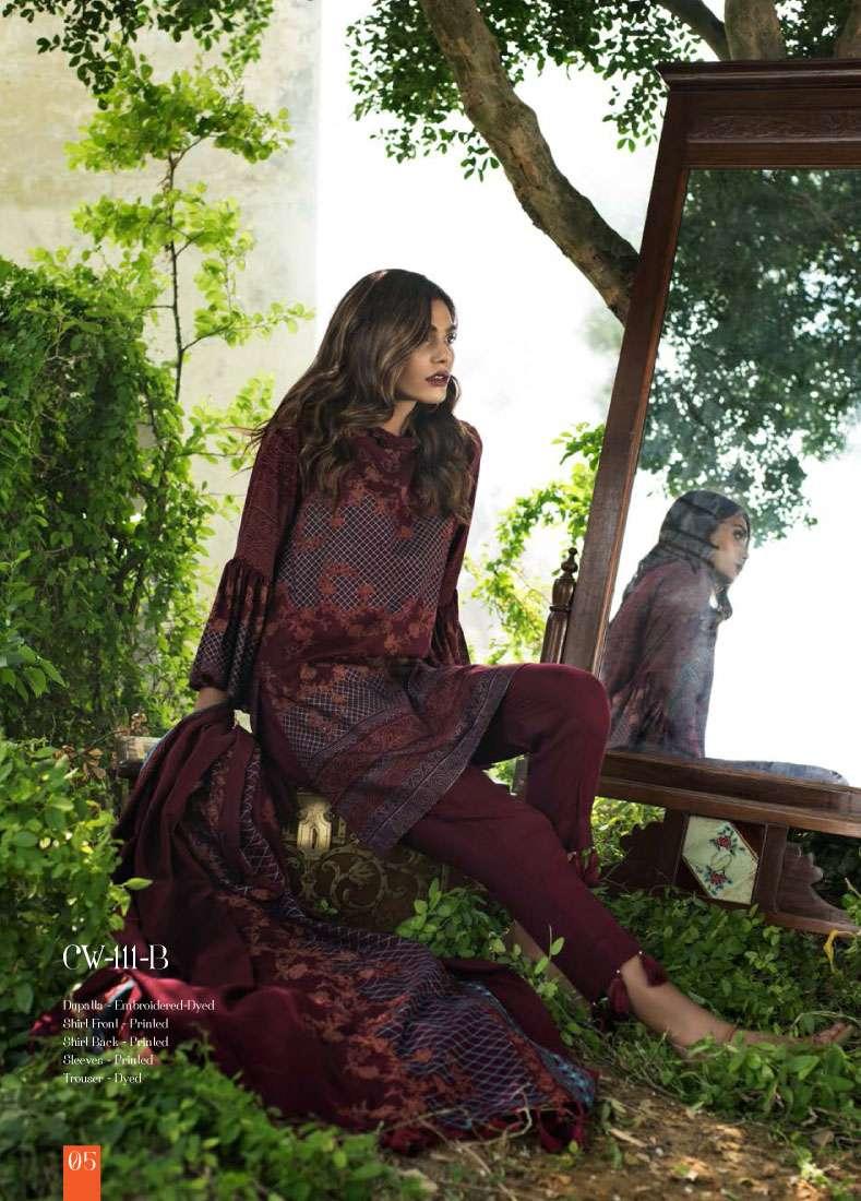 Lakhani Embroidered Cottel Linen Unstitched 3 Piece Suit LSM17W3 111B