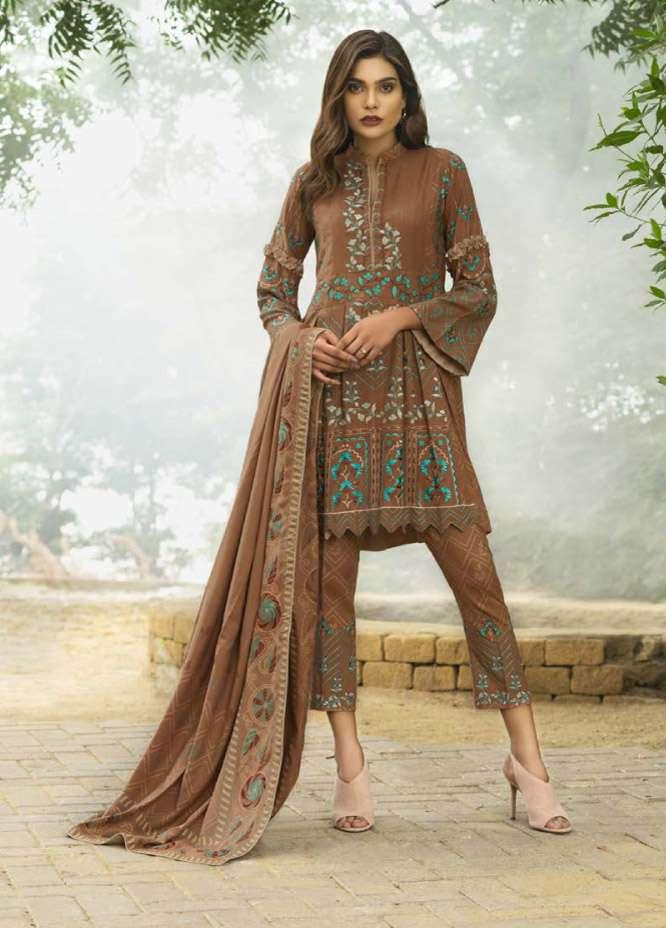 Lakhani Embroidered Cottle Linen Unstitched 3 Piece Suit LSM17W3 999B