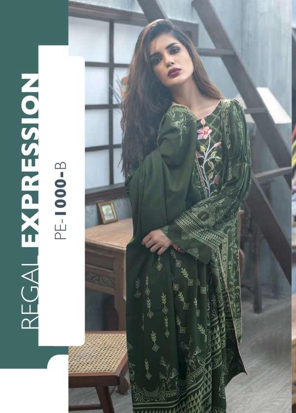 Lakhani Embroidered Pashmina Unstitched 3 Piece Suit LSM17W 1000B