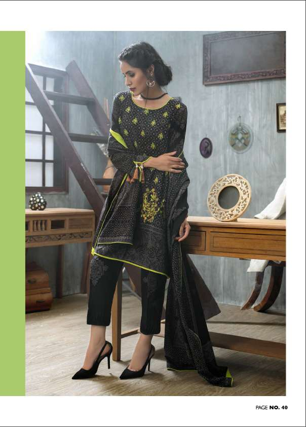 Lakhani Embroidered Pashmina Unstitched 3 Piece Suit LSM17W 600A