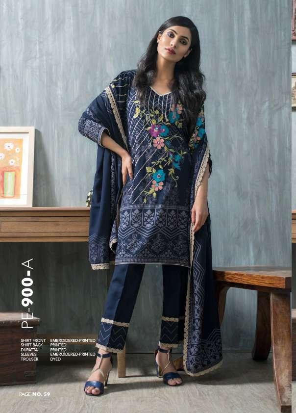 Lakhani Embroidered Pashmina Unstitched 3 Piece Suit LSM17W 900B