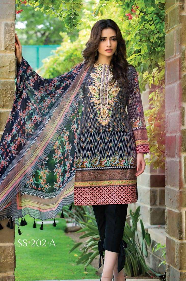 Sophia Sahar by LSM Embroidered Lawn Unstitched 3 Piece Suit LSS17E 202A