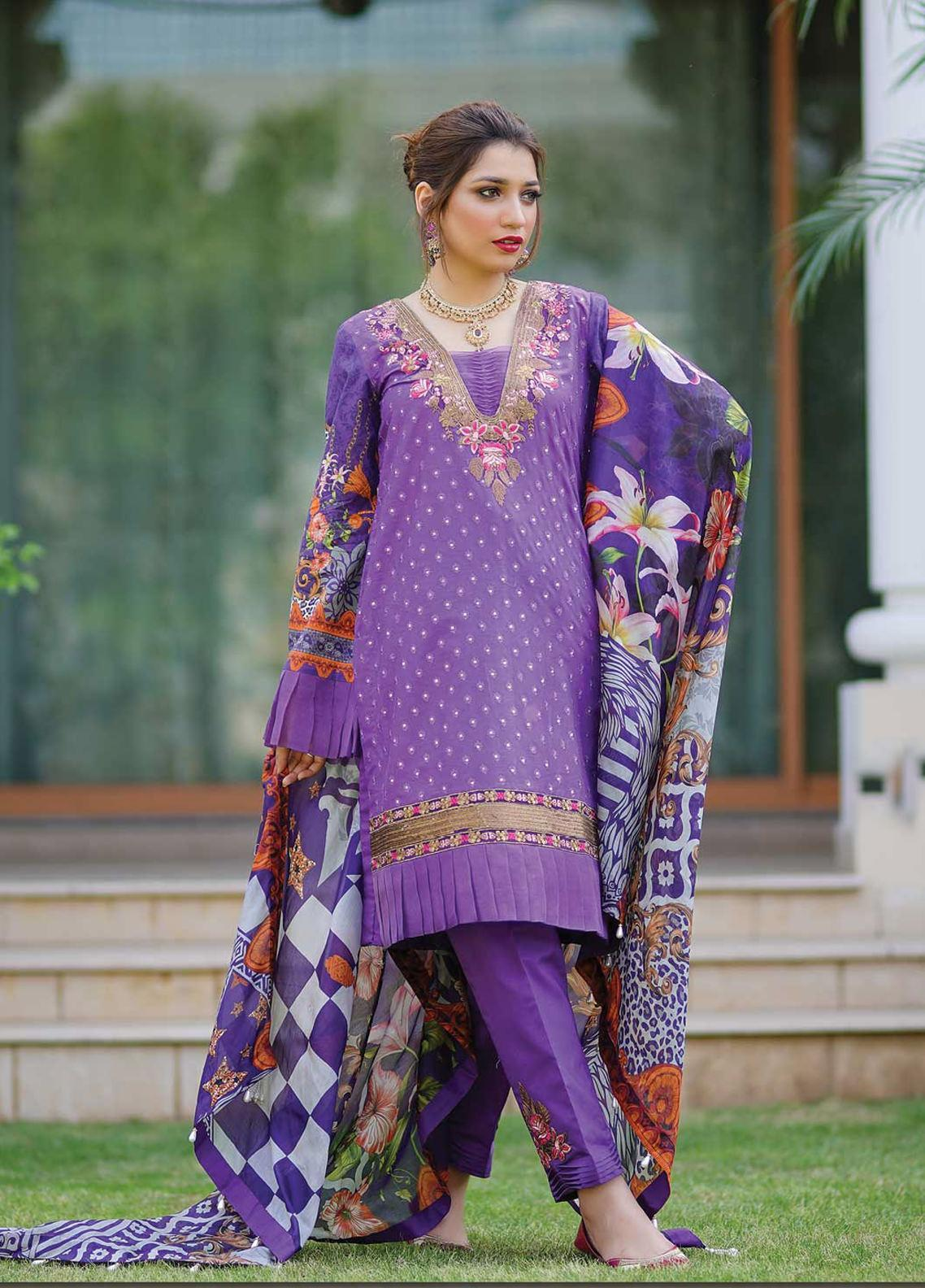 Mahi by Marwat Textiles Embroidered Lawn Unstitched 3 Piece Suit MMT20M M-04 - Luxury Collection