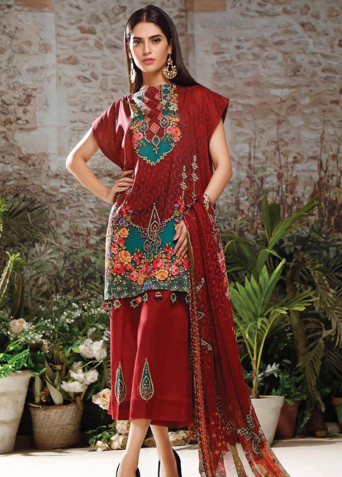 Malhar Printed Lawn Unstitched 3 Piece Suit ML20B B77-A - Summer Collection