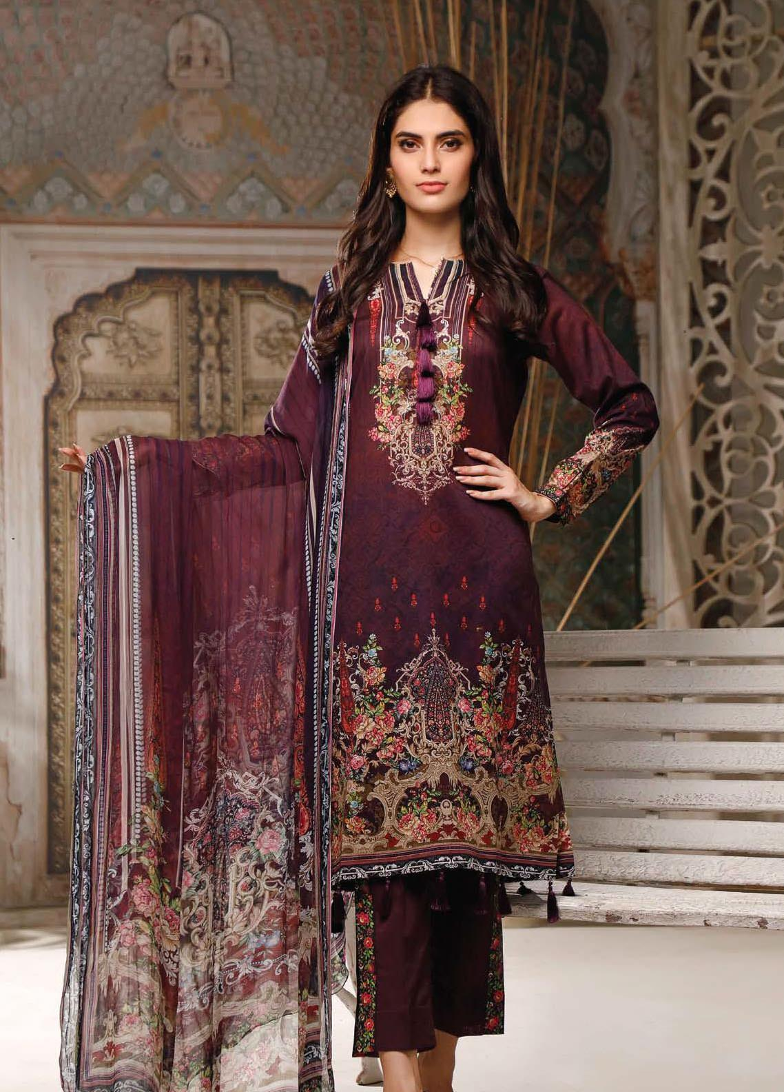 Malhar Printed Lawn Unstitched 3 Piece Suit ML20B B80-A - Summer Collection
