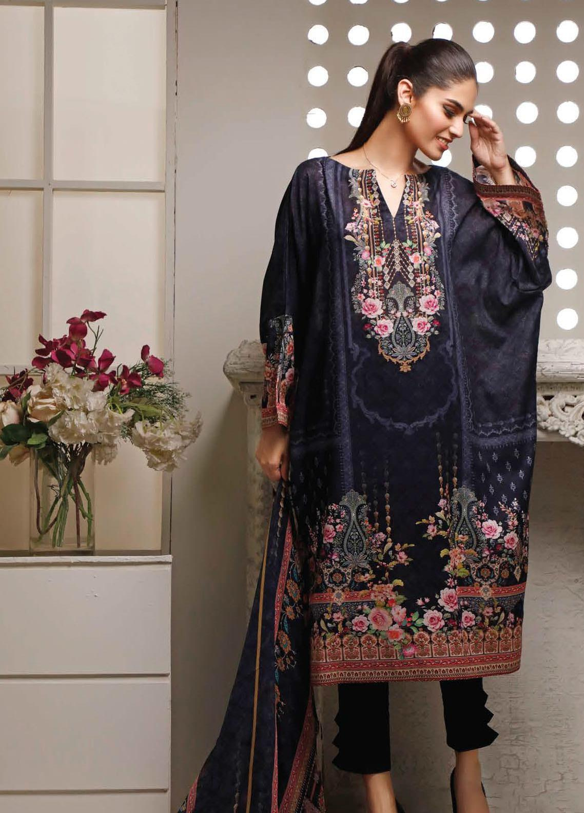 Malhar Printed Lawn Unstitched 3 Piece Suit ML20B B83-A - Summer Collection