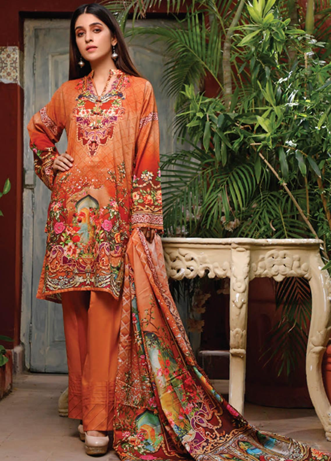 Malhar Printed Lawn Unstitched 3 Piece Suit ML20D 228-A - Spring / Summer Collection