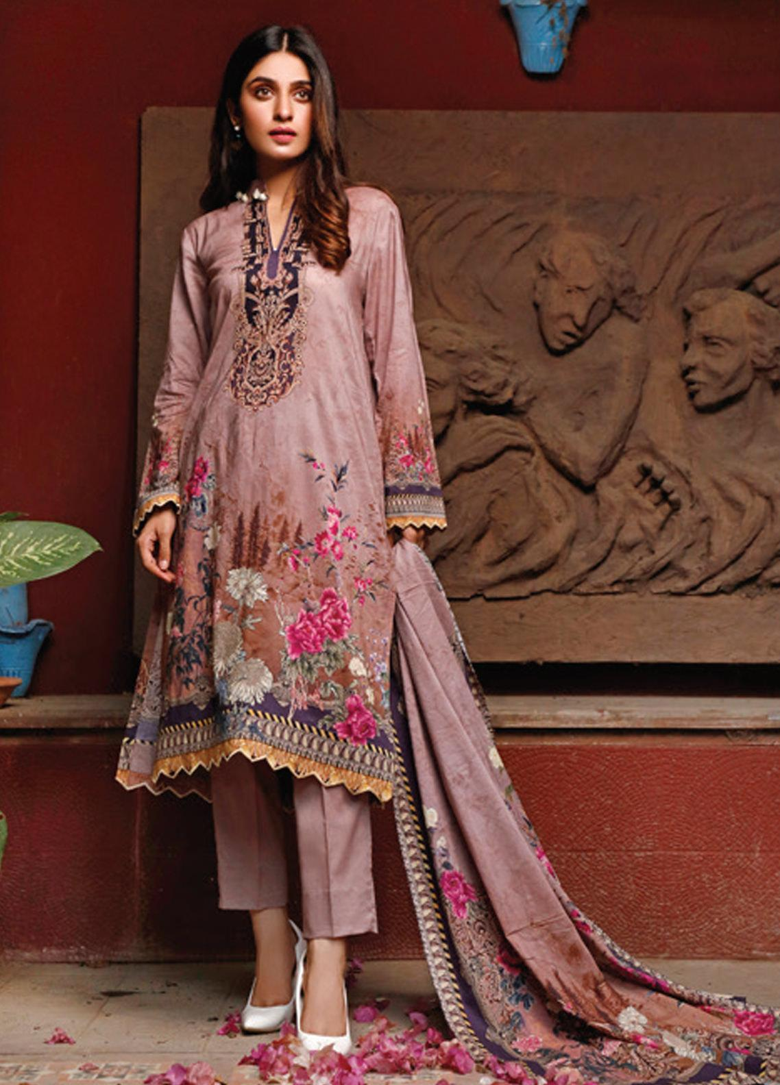 Malhar Printed Lawn Unstitched 3 Piece Suit ML20D 229-A - Spring / Summer Collection