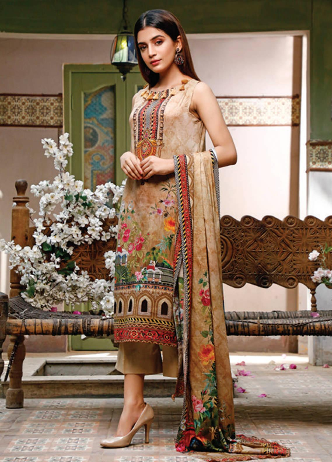 Malhar Printed Lawn Unstitched 3 Piece Suit ML20D 234-B - Spring / Summer Collection