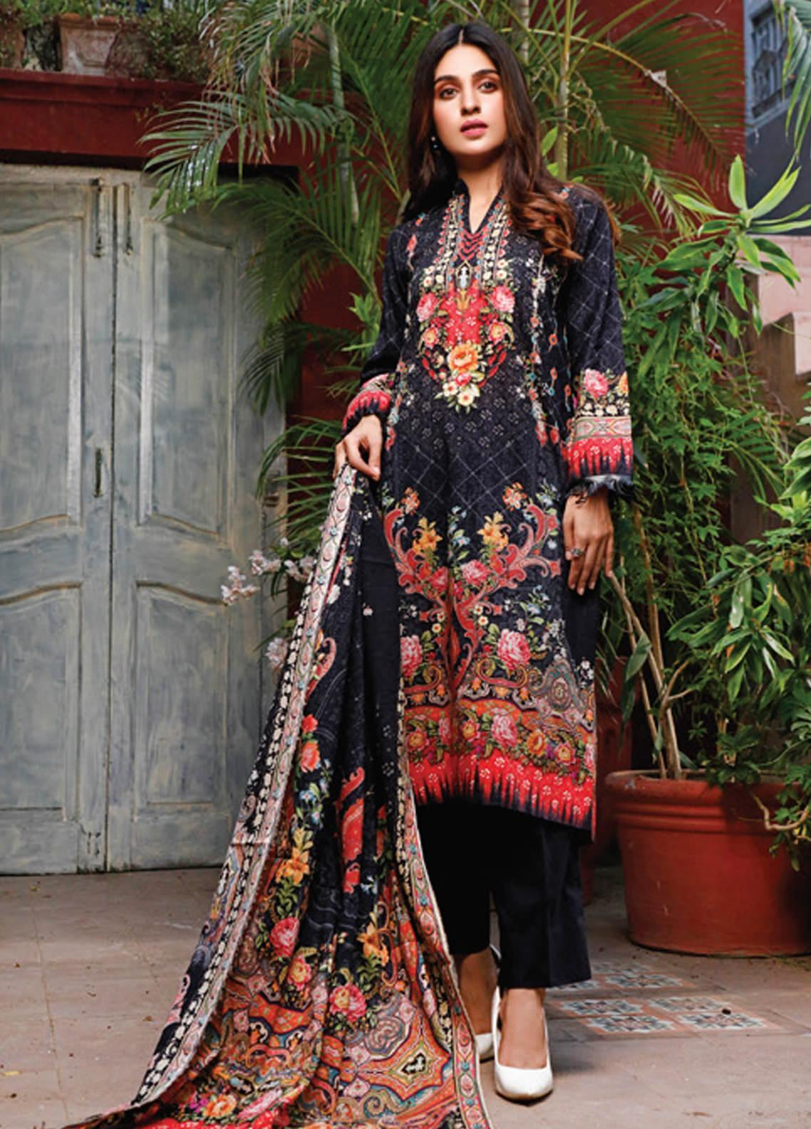 Malhar Printed Lawn Unstitched 3 Piece Suit ML20D 235-A - Spring / Summer Collection