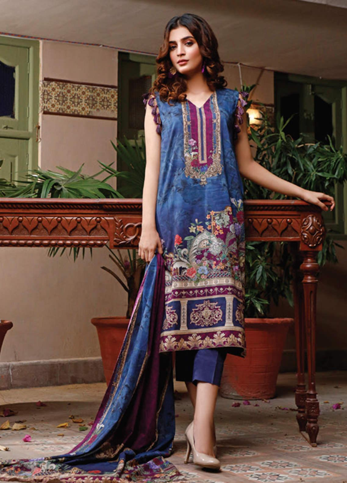 Malhar Printed Lawn Unstitched 3 Piece Suit ML20D 237-A - Spring / Summer Collection