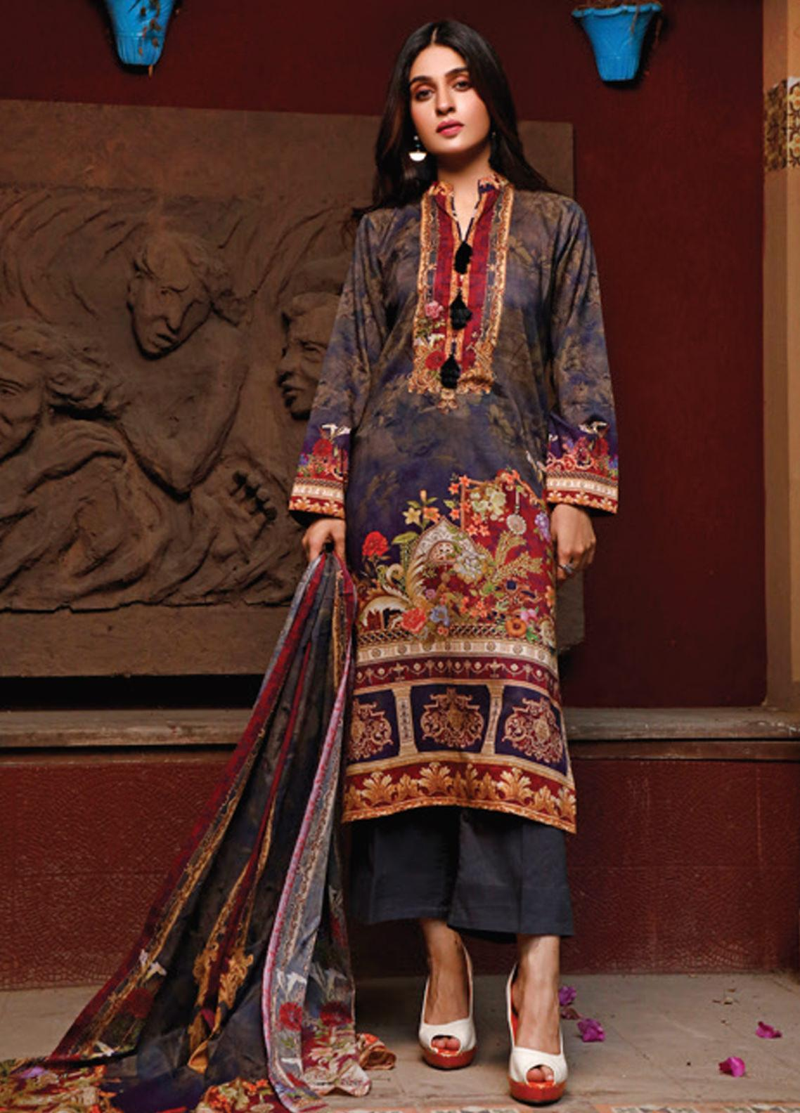 Malhar Printed Lawn Unstitched 3 Piece Suit ML20D 237-B - Spring / Summer Collection