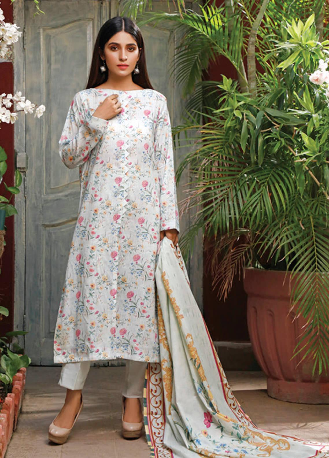 Malhar Printed Lawn Unstitched 3 Piece Suit ML20D 238-B - Spring / Summer Collection