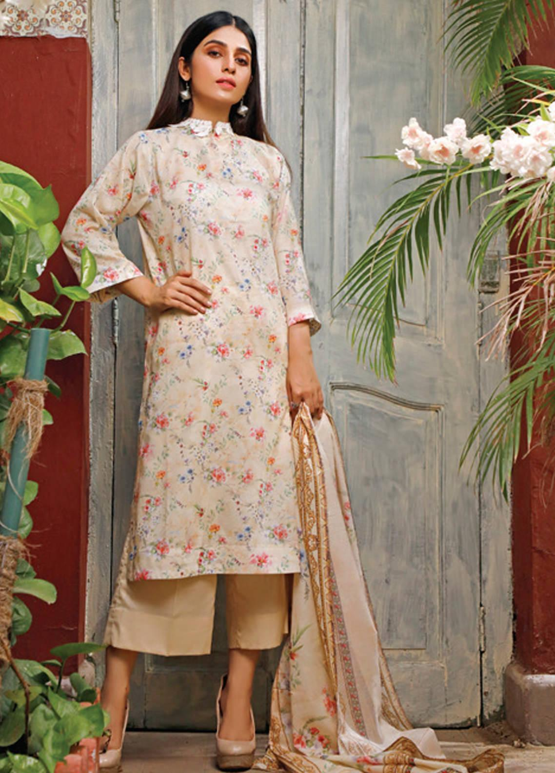 Malhar Printed Lawn Unstitched 3 Piece Suit ML20D 239-B - Spring / Summer Collection