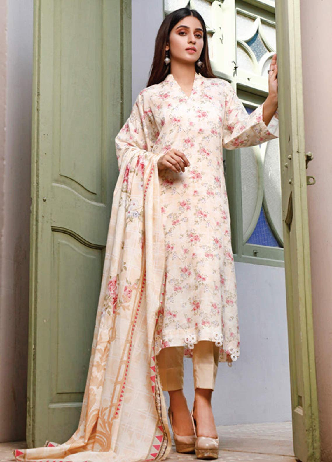 Malhar Printed Lawn Unstitched 3 Piece Suit ML20D 240-B - Spring / Summer Collection