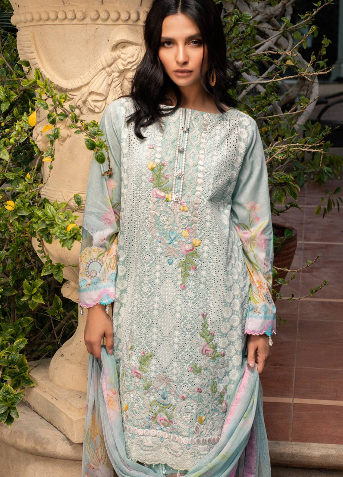 Malhar Embroidered Lawn Unstitched 3 Piece Suit ML19L 10 MEDALLION CHIC - Spring / Summer Collection