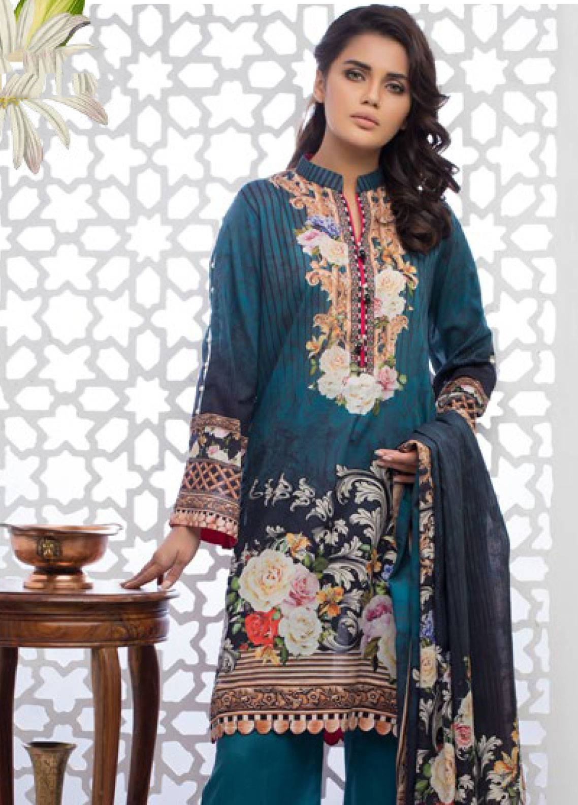 Malhar Printed Lawn Unstitched 3 Piece Suit ML19PL 28B - Spring / Summer Collection
