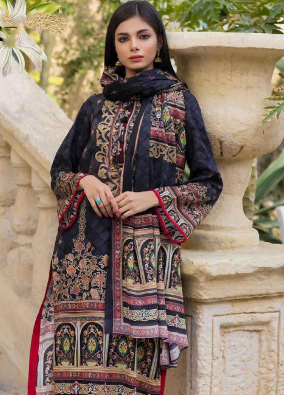 Malhar Printed Lawn Unstitched 3 Piece Suit ML19PL 29A - Spring / Summer Collection