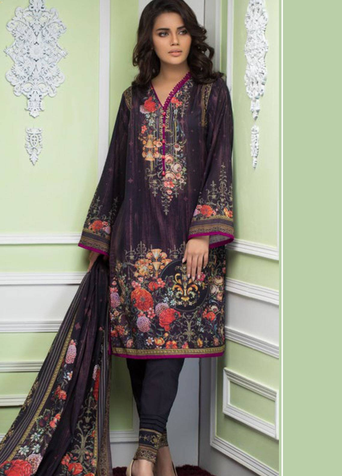 Malhar Printed Lawn Unstitched 3 Piece Suit ML19PL 31B - Spring / Summer Collection