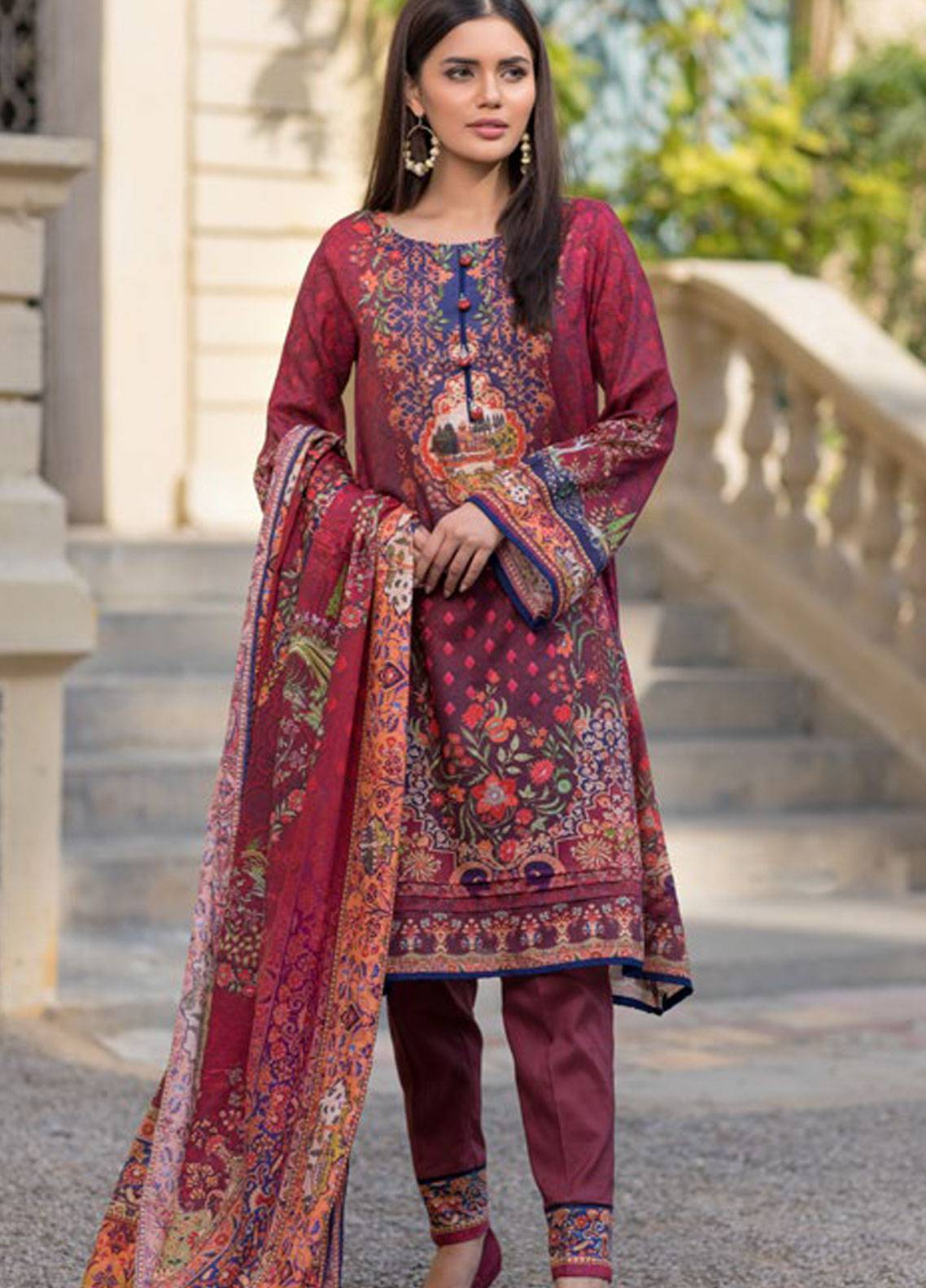 Malhar Printed Lawn Unstitched 3 Piece Suit ML19PL 38A - Spring / Summer Collection